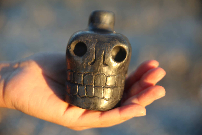 Aztec Death Whistle in Black